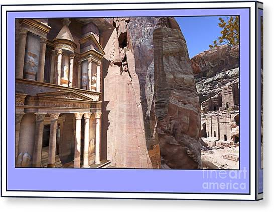 Sightseeing Canvas Print - Virtual Petra by Assie Schell