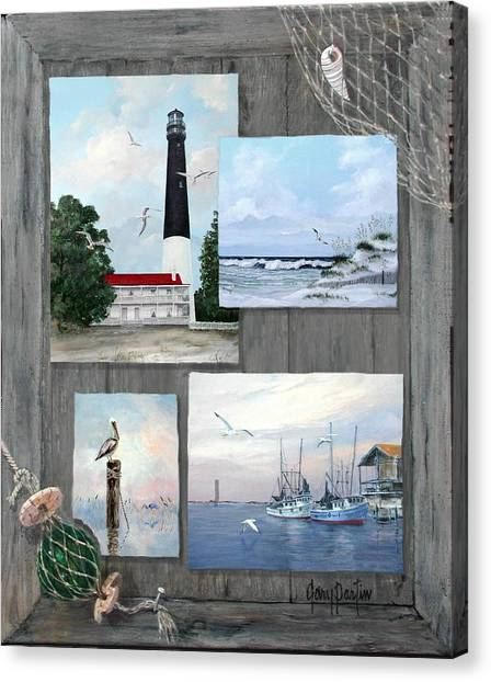 Visit To The Gulf - Pensacola Canvas Print