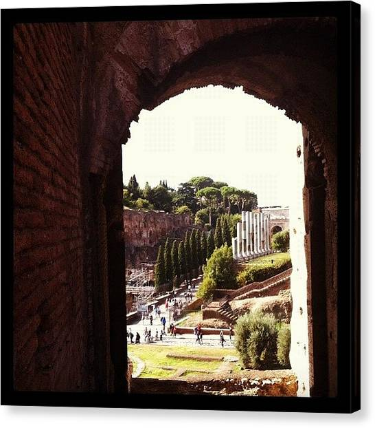 Rome Canvas Print - Vista Desde El Coliseo Al Foro Romano by Marce HH