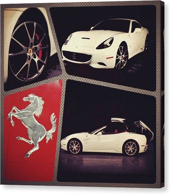 Ferrari Canvas Print - @vivatelecom #vivaphotoaday #vivaday25 by Ghada Abdulkhaleq