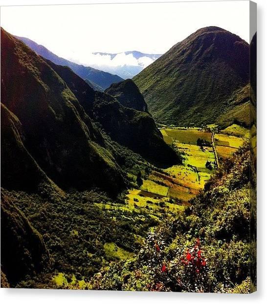 Volcanoes Canvas Print - #volcano #crater #pululahua by Martin Endara