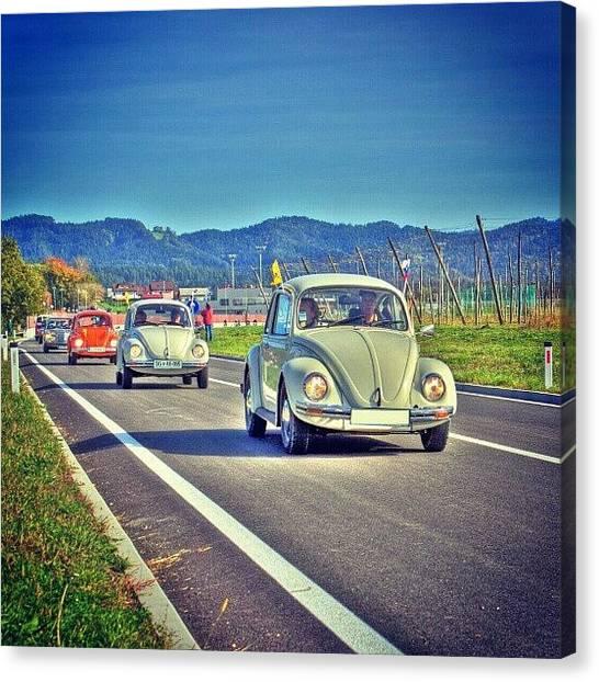 Beetles Canvas Print - Volkswagen Beetle. #volkswagen #beetle by Jernej Furman