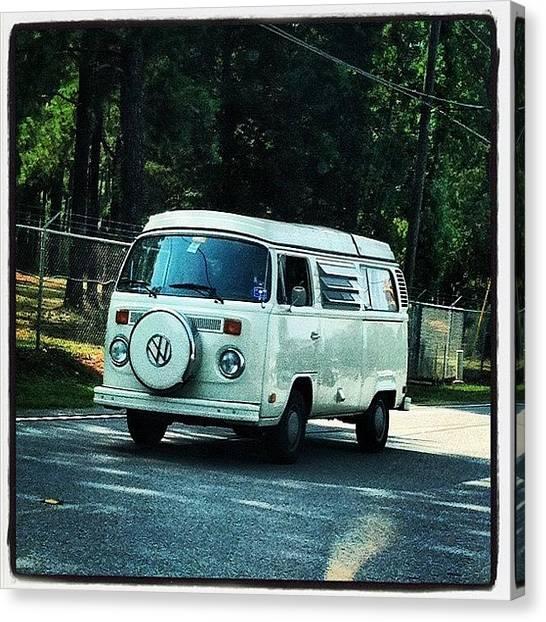 Driving Canvas Print - Volkswagon Bus by Lea Ward