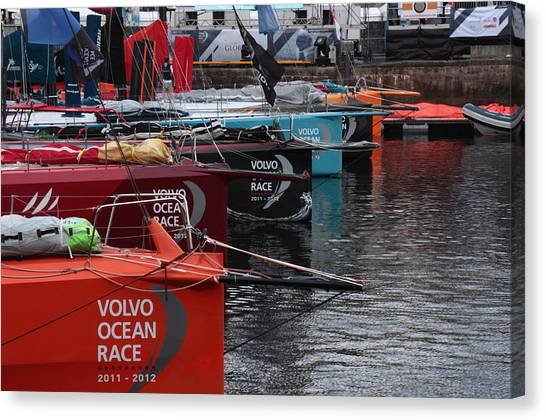 Volvo Ocean Race 2011-2012 Canvas Print by Peter Skelton
