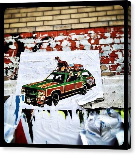 Graffiti Canvas Print - Vote Honky: Mitt Romney & His Pooch by Natasha Marco