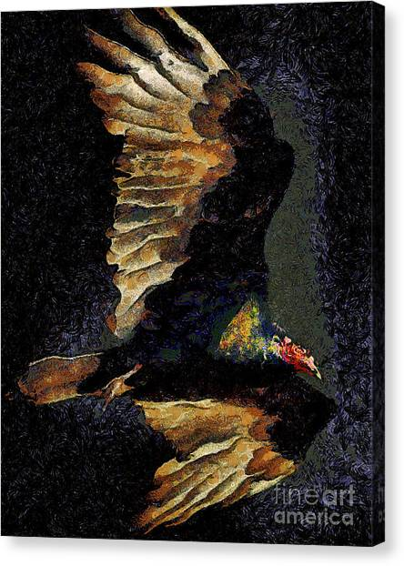 Undertaker Canvas Print - Vulture In Van Gogh.s Dream Returns . 40d8879 by Wingsdomain Art and Photography