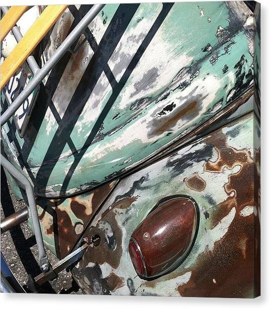Head Canvas Print - Vw Abstract by Gwyn Newcombe