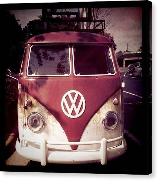 Vw Bus Canvas Print - Vw Bus by Brooke Cain