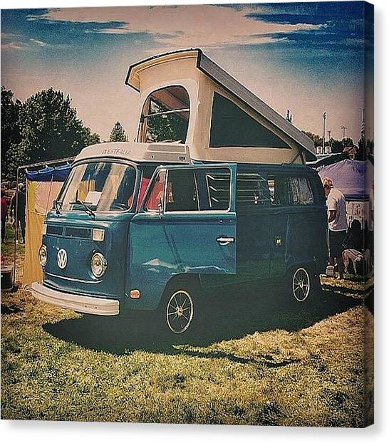 Salt Canvas Print - Vw Camper by Chris Holifield