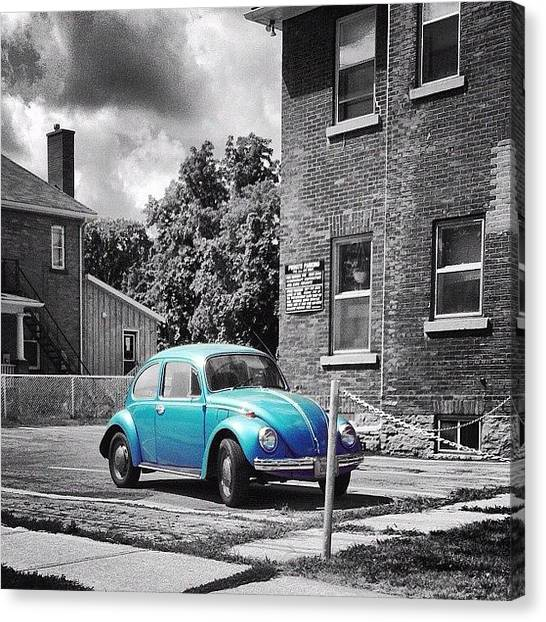 Ontario Canvas Print - #vw #car #canada #color #colorsplash by Dylan Habkirk