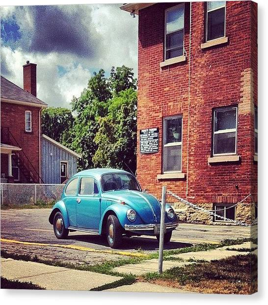 Ontario Canvas Print - #vw #car #canada #instagram #blue by Dylan Habkirk