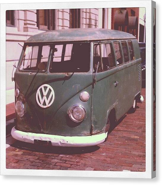 Volkswagen Canvas Print - Vw In Downtown Fort Myers. #vw by Troy Thomas