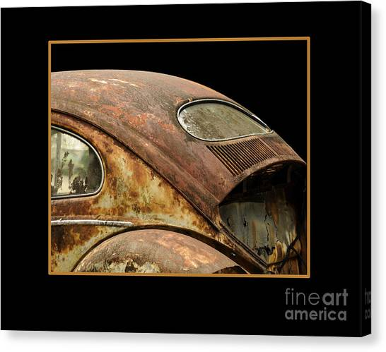 Vw Rust Bug Canvas Print
