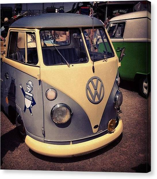 Vw Bus Canvas Print - #vw #splitt #bus by Antony Stafford