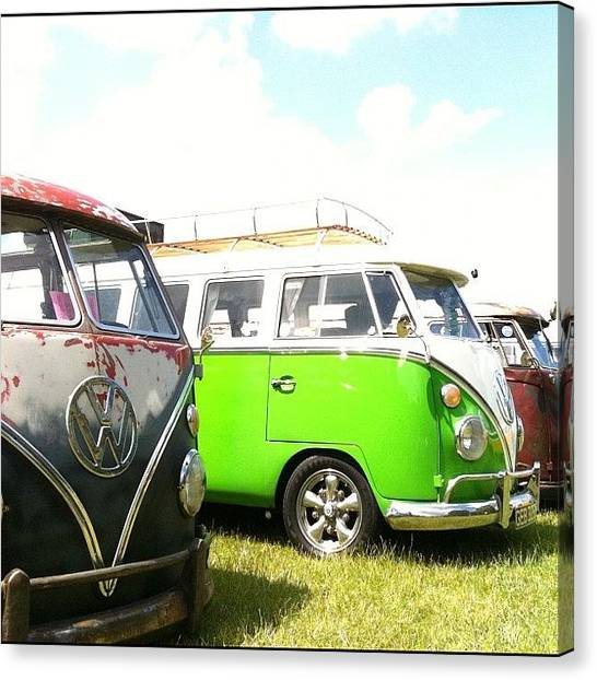 Vw Bus Canvas Print - #vw Splittys by Doc Ward