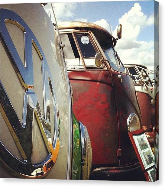 Vw Bus Canvas Print - #vw Splity by Doc Ward