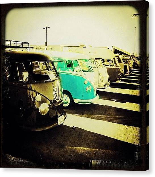 Vw Bus Canvas Print - #vw #volkswagon #bus #buses by Exit Fifty-Seven