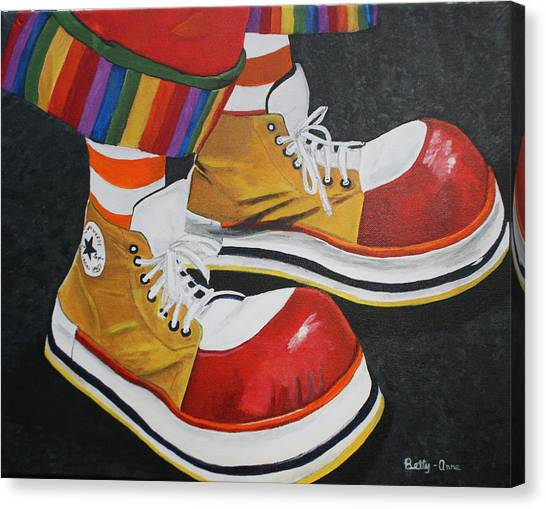 Waffle's Shoes Canvas Print