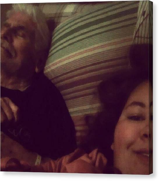 Grandpa Canvas Print - Wah I Miss Gramps. #grandpa #me #bonding by Brittany Mata