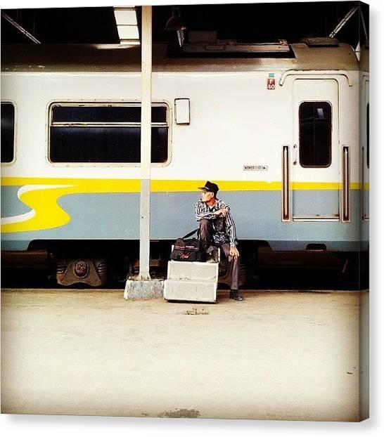 Humans Canvas Print - Waiting by Andhika Satya