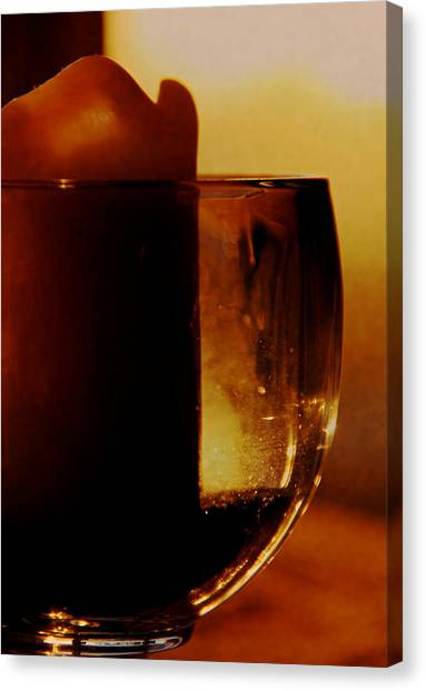 Decorative Glass Canvas Print   Waiting For A Light By Odd Jeppesen