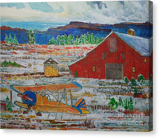 Waiting For Better Weather Canvas Print by Donald McGibbon