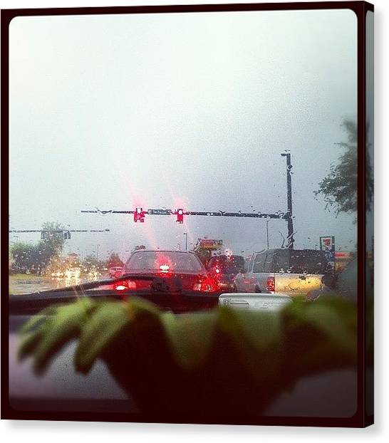 Stoplights Canvas Print - #waiting For #change #jamppa #orlando by James Roberts