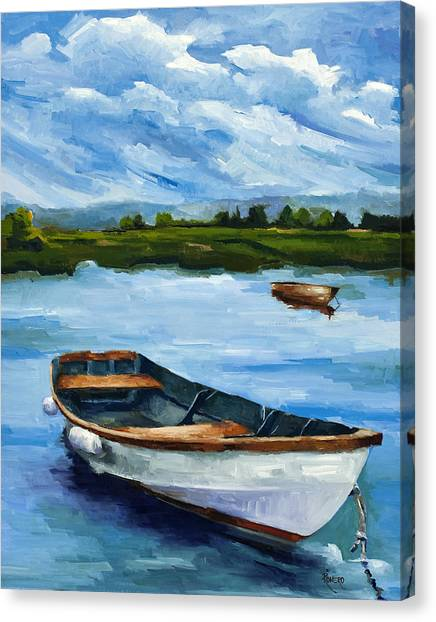 Waiting For Fish Canvas Print by Jose Romero