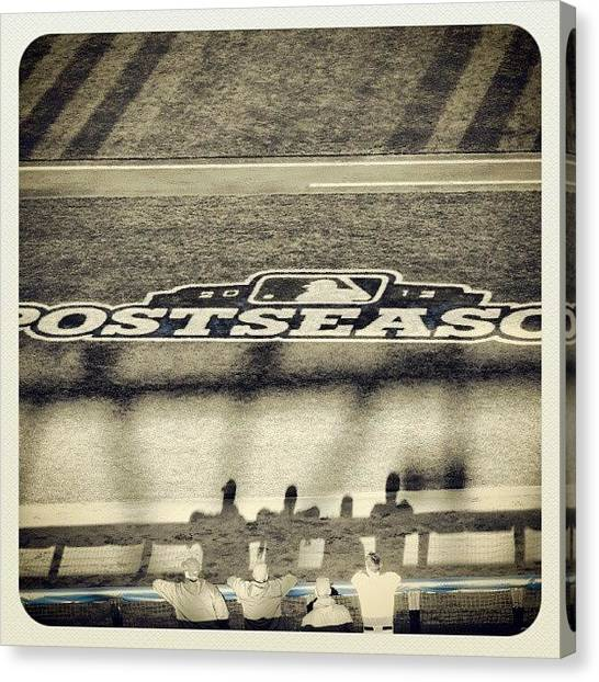 Baseball Teams Canvas Print - Waiting For The Game To Start. #reds by Reds Pics