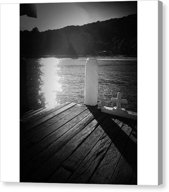 Saints Canvas Print - Waiting In The Shadows #iphoneography by Kendall Saint