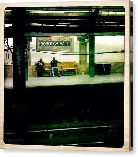 Subway Canvas Print - ...waiting by Natasha Marco