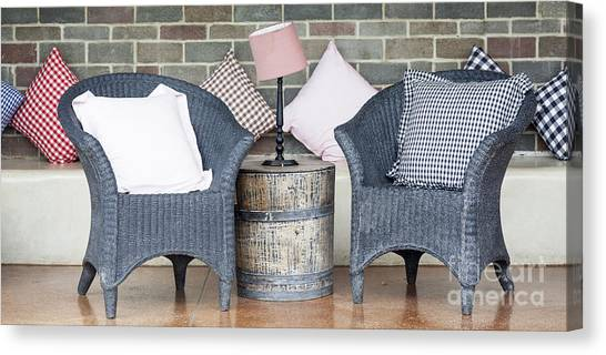 Waiting Room With Two Armchairs Canvas Print by Chavalit Kamolthamanon