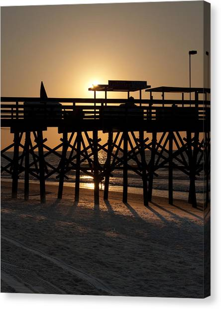 Canvas Print featuring the photograph Wakening Of The Pier by At Lands End Photography