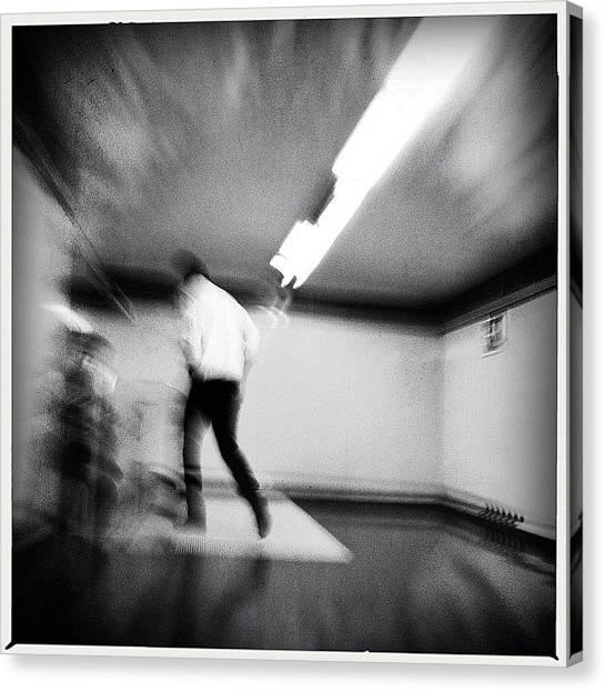 London Tube Canvas Print - Walk Away #inthesubway #metro by Geovanny Ardila