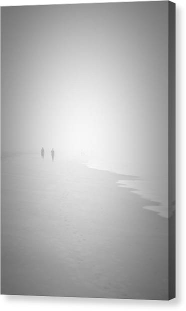 Walk In The Fog Canvas Print
