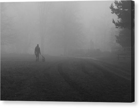 Walk The Dog Canvas Print