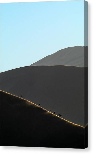 Walk The Edge Canvas Print