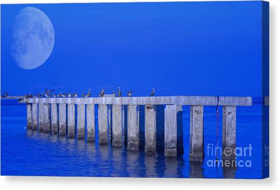 Walk To The Moon Canvas Print