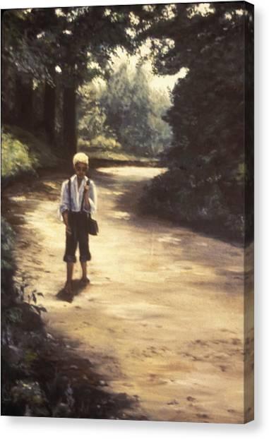 Canvas Print - Walking Alone by Bobi Glenn
