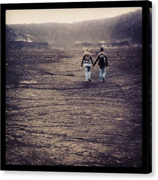 Volcanoes Canvas Print - Walking In A Wasteland by Jody Robinson