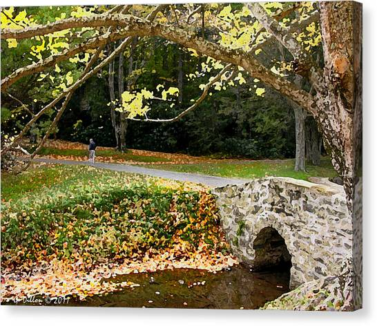 Walking In The Brisk Autumn Air Canvas Print