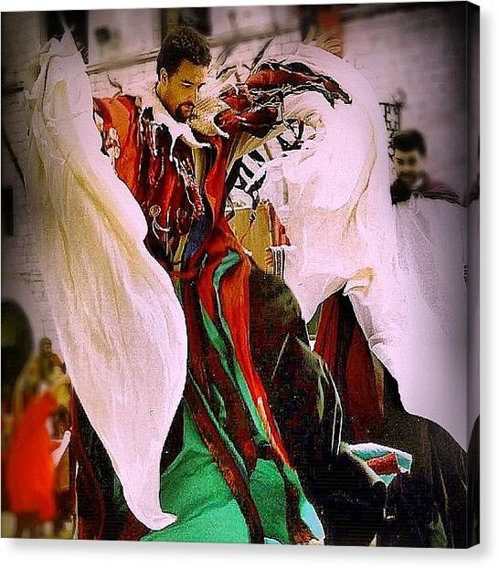 Medieval Art Canvas Print - Walking On Dream, Assisi Festival by A Rey