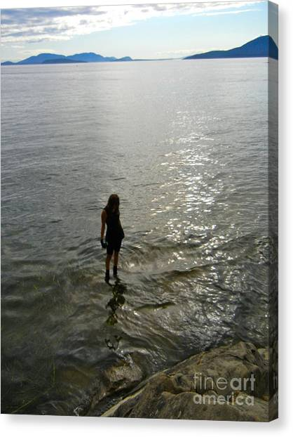 Walking On The Tide Canvas Print