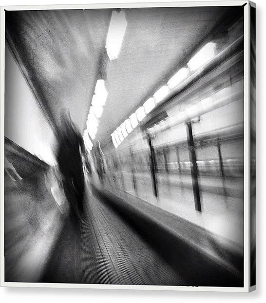 London Tube Canvas Print - Walking Tape #inthesubway #metro by Geovanny Ardila