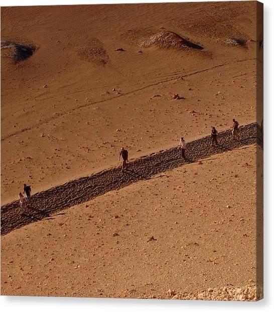 Atacama Desert Canvas Print - Walking by Ursula Marcondes