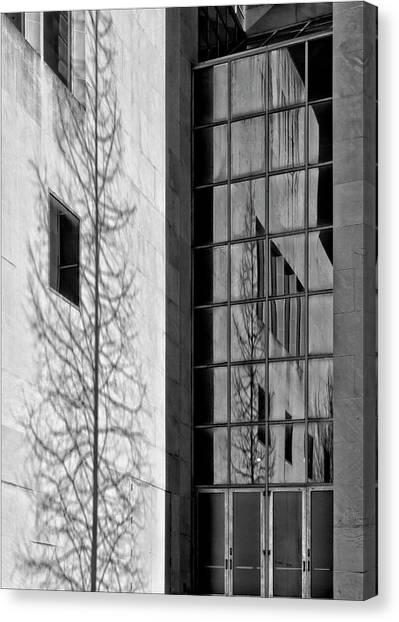 Wall And Windows Metropolitan Museum Nyc Canvas Print by Robert Ullmann