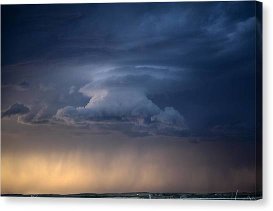 Wall Cloud Convecting Canvas Print by Loren Rye