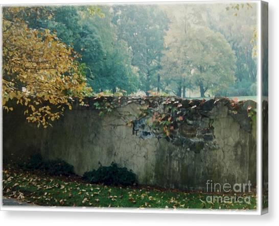 Wall In Fall Canvas Print by Maxine Bochnia
