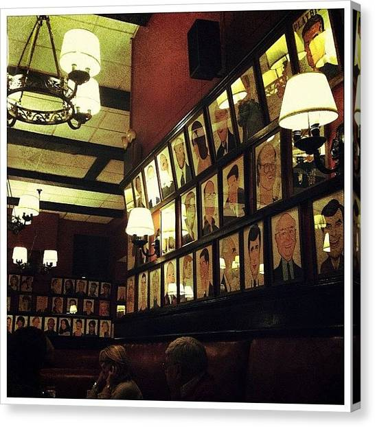Restaurants Canvas Print - Wall Of Fame by Natasha Marco