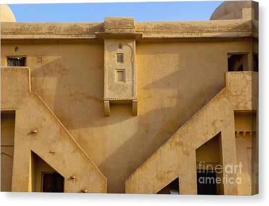 Wall Of The Amber Fort Canvas Print by Inti St. Clair